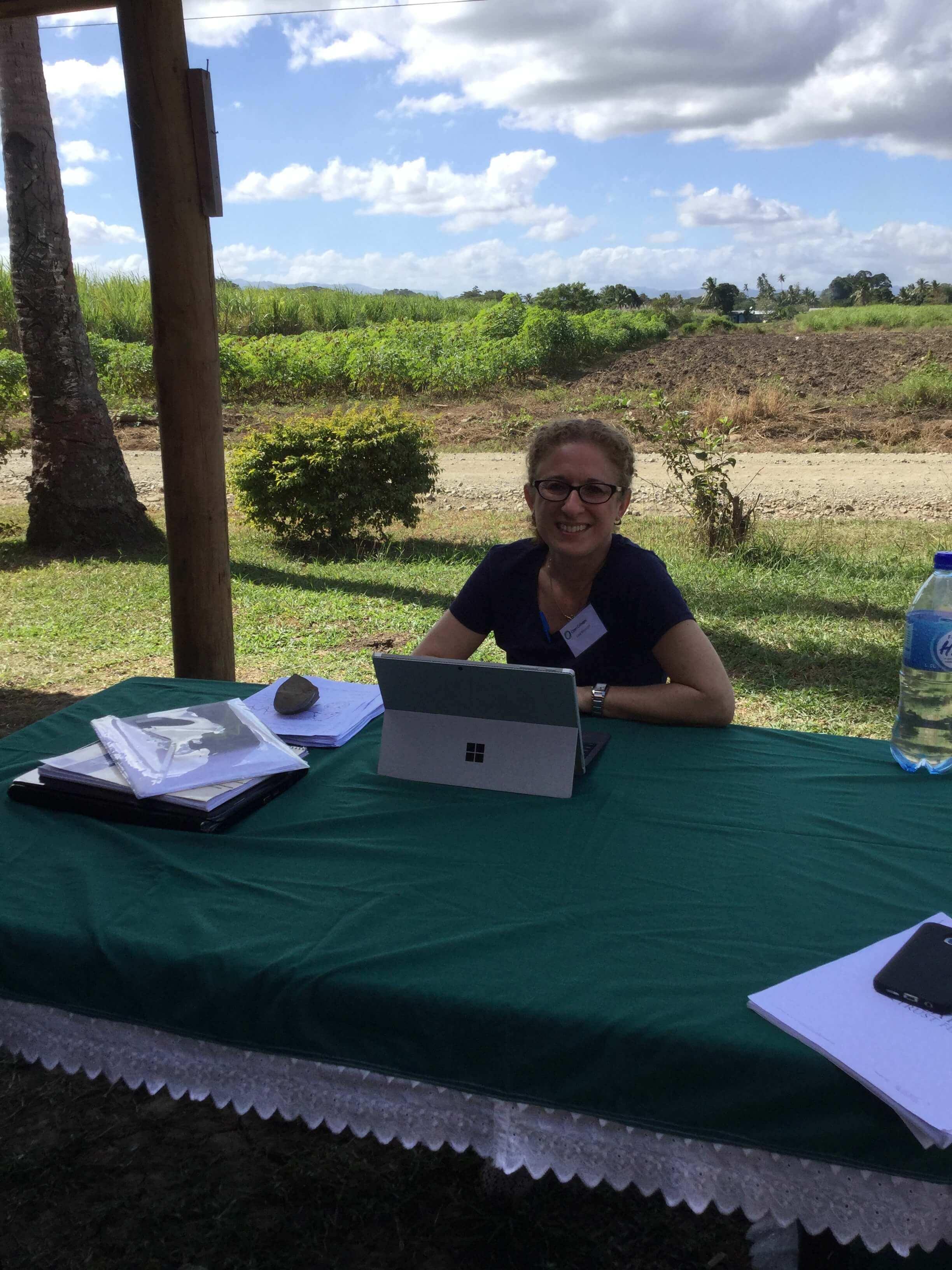 Lucy, studying, working, Fiji