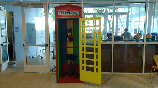 Google phone booth