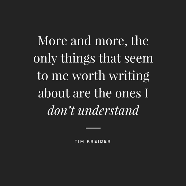 More and more, the only things that seem