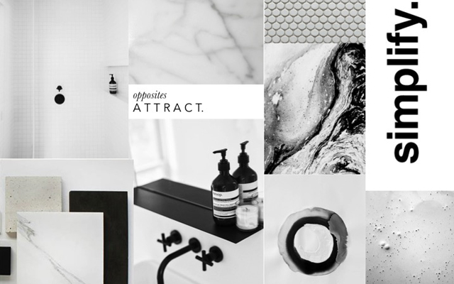 work in interior design moodboard
