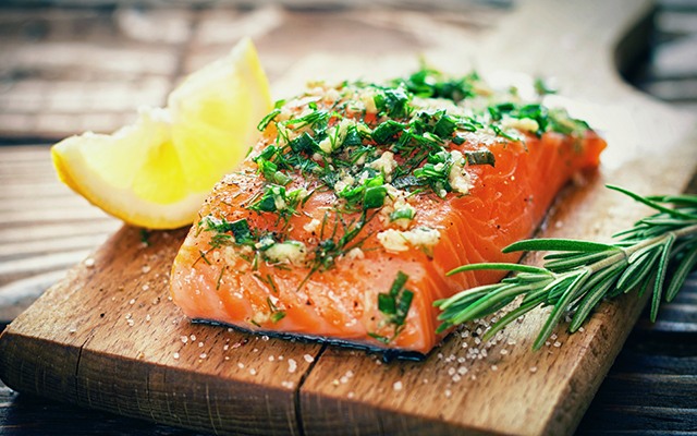 eat salmon and cure a cold