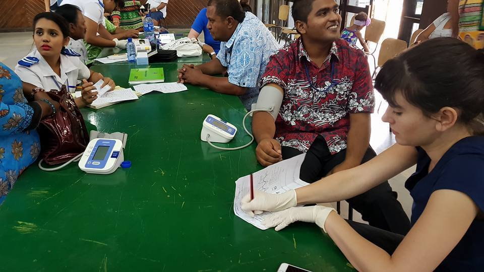Fiji, health screenings, work placement