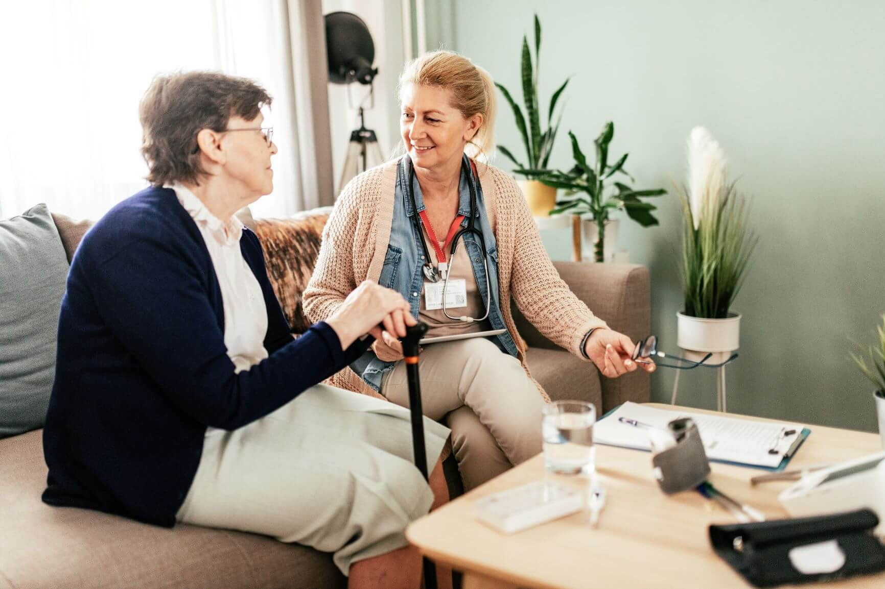 Aged Care Worker Meeting