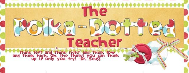 polka dotted teacher