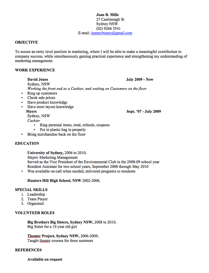 Resume Templates High | Cv Template Free Professional Resume Templates Word Open Colleges